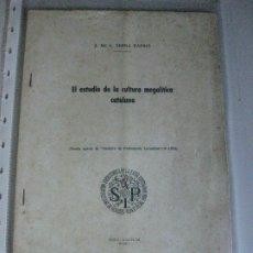 Libros de segunda mano: PREHIOSTORIA - CULTURA IBERICA --- J-DE C. SERRA RAFOLS **1932**. Lote 183182716