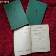 Libros de segunda mano: MORITZ HOERNES --- PREHISTORIA ... 3 VOLÚMENES. Lote 187201896