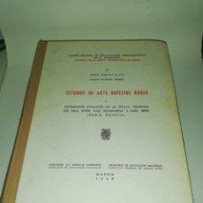 Libros de segunda mano: ALMAGRO BASCH, MARTÍN - ESTUDIOS DE ARTE RUPESTRE NUBIO I YACIMIENTOS SITUADOS ORILLA ORIENTAL NILO. Lote 190306543