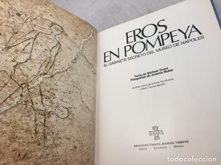 Libros de segunda mano: Eros en Pompeya, el gabinete secreto del Museo de Nápoles Michael Grant Ediciones Daimon 1976 - Foto 2 - 190469433