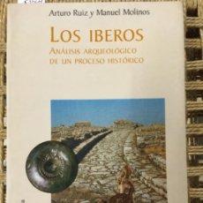 Libri di seconda mano: LOS IBEROS, ANALISIS ARQUEOLOGICO DE UN PROCESO HISTORICO, ARTURO RUIZ Y MANUEL MOLINOS. Lote 192261537