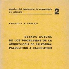 Libros de segunda mano: ENRIQUE A. LLOBREGAT ESTADO ACTUAL DE LOS PROBLEMAS DE LA ARQUEOLOGÍA DE PALESTINA:. Lote 192790521