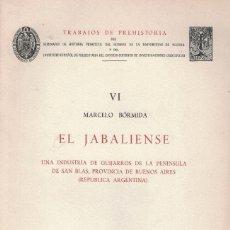 Libros de segunda mano: MARCELO BORMIDA EL JABALIENSE (ARGENTINA). Lote 192864565