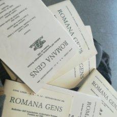 Libros de segunda mano: ROMANA GENS 6 NÚMEROS DE LA ASOCIACIÓN DE ARQUEOLOGÍA ROMANA DEL 1988 AL 94 ITALIANO. Lote 196040513