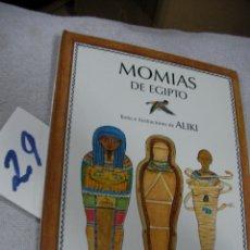 Libros de segunda mano: MOMIAS DE EGIPTO. Lote 196170241