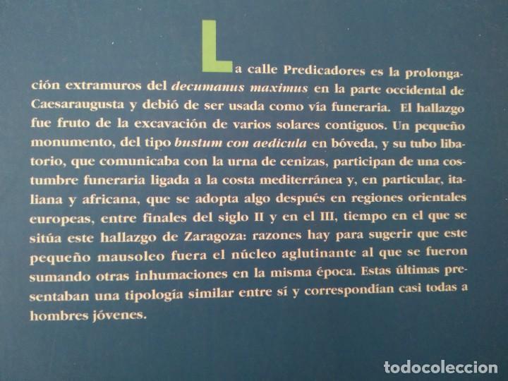 Libros de segunda mano: LA NECRÓPOLIS OCCIDENTAL DE CAESARAUGUSTA EN EL SIGLO III ---- MARÍA PILAR GALVE IZQUIERDO - Foto 2 - 196566528