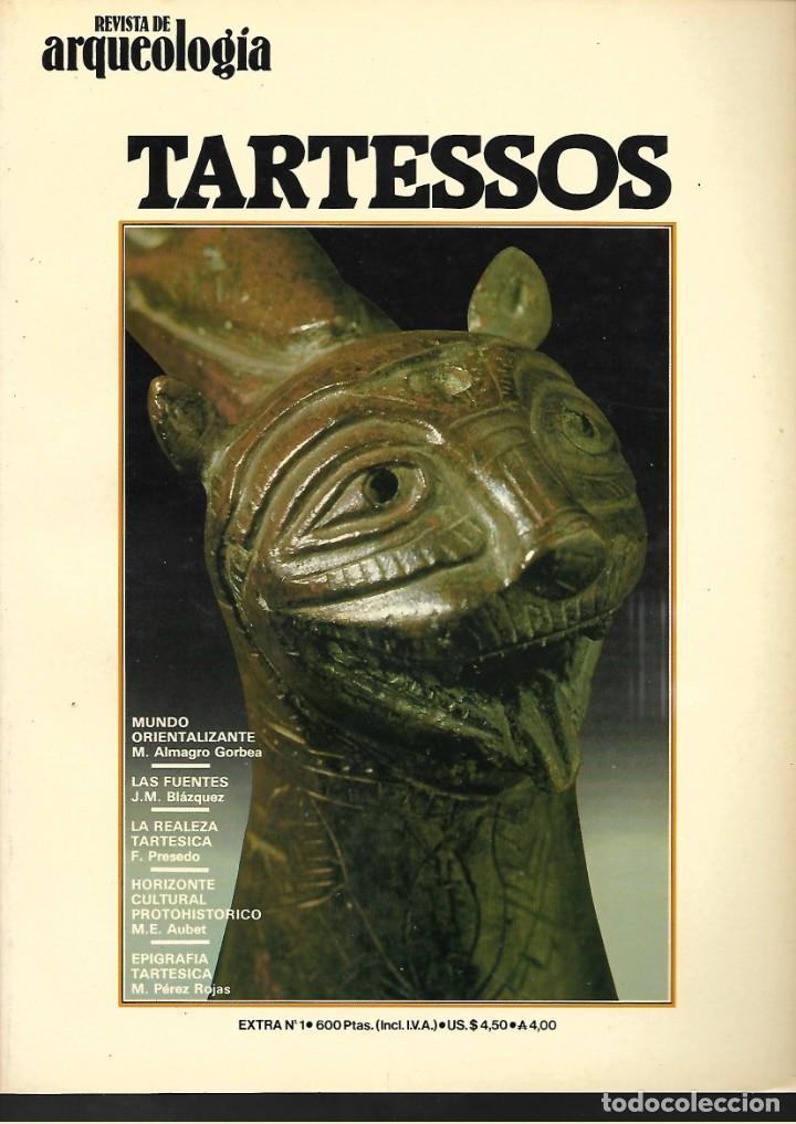LOTE DE 3 REVISTA DE ARQUEOLOGIA TARTESOS- A. RUPESTRE EN ESPAÑA Y EL ORO EN LA E.. PRERROMANA (Libros de Segunda Mano - Ciencias, Manuales y Oficios - Arqueología)