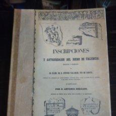 Libros de segunda mano: INSCRIPCIONES Y ANTIGÜEDADES DEL REINO DE VALENCIA. VARCARCEL PIO DE SABOYA, A. VALENCIA, 1979. FACS. Lote 199133091