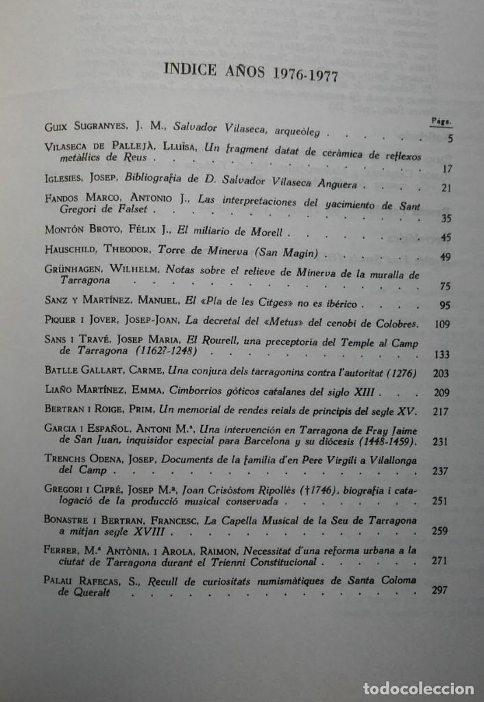 Libros de segunda mano: Boletín Arqueológico 1976-77. Miscelánea Salvador Vilaseca. Arqueología, Tarragona - Foto 4 - 204706391