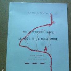 Livros em segunda mão: MAS FIGURAS RUPESTRES EN JAEN. LA CUEVA DE LA DIOSA MADRE. JUAN GONZALEZ NAVARRETE. PUBLICACIONES. Lote 204983628