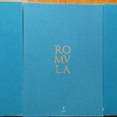 Libros de segunda mano: ROMULA. REVISTA DE ARQUEOLOGÍA. 3 TOMOS (NÚM. 3, 4 Y 6). Lote 205459870