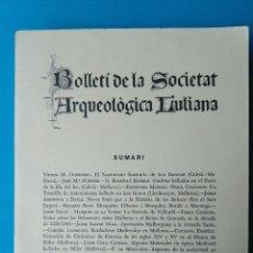 Libros de segunda mano: BOLLETÍ DE LA SOCIETAT ARQUEOLÒGICA LUL·LIANA - 1979. Lote 211891327