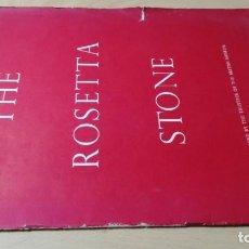 Libros de segunda mano: THE ROSETTA STONE - EN INGLES ESQ404. Lote 213289132