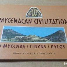 Libros de segunda mano: MYCENAEAN CIVILIZATION MYCENAE TIRYNS PYLOS - KONSTANTINOS P KONTORLIS W201. Lote 213289333