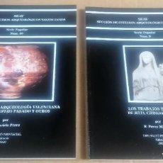 Libros de segunda mano: SECCIÓN DE ESTUDIOS ARQUEOLÓGICOS VALENCIANOS. SERIE POPULAR. 2 LIBROS. Lote 214035062