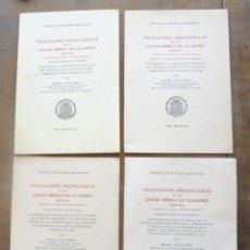 Libros de segunda mano: 4 EXCAVACIONES ARQUEOLÓGICAS EN LA CIUDAD IBÉRICA DE ULLASTRET (GERONA) MIGUEL OLIVA PRAT 1956-1960. Lote 214831952