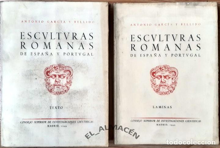 ESCULTURAS ROMANAS DE ESPAÑA Y PORTUGAL (GARCÍA Y BELLIDO) 2 VOLS. - 1949 - SIN USAR (Libros de Segunda Mano - Ciencias, Manuales y Oficios - Arqueología)