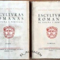 Libros de segunda mano: ESCULTURAS ROMANAS DE ESPAÑA Y PORTUGAL (GARCÍA Y BELLIDO) 2 VOLS. - 1949 - SIN USAR. Lote 219563336