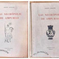 Libros de segunda mano: LAS NECRÓPOLIS DE AMPURIAS 2 VOLS. (MARTÍN ALMAGRO 1953-55) SIN USAR. Lote 219563803