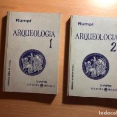 Libros de segunda mano: ARQUEOLOGÍA. 2 TOMOS. ANDREAS RUMPH. UTEHA, PRIMERA EDICIÓN . MEXICO 1962. Lote 220407042