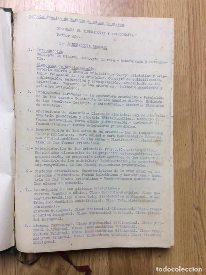 Libros de segunda mano: ANTIGUO LIBRO DE LA ESCULA TÉCNICA DE PERITOS DE MINAS DE MIERES 107 PÁGINAS - Foto 5 - 221515021