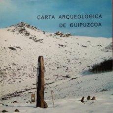 Libros de segunda mano: CARTA ARQUEOLÓGICA DE GUIPUZCOA -- JESÚS ALTUNA Y OTROS. Lote 221931863