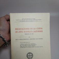 Libros de segunda mano: EXCAVACIONES EN LA CUEVA DE TITO BUSTILLO TRABAJOS 1975 - MOURE - OVIEDO 1976. Lote 222278438