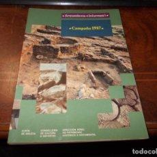 Libros de segunda mano: ARQUEOLOXÍA, INFORMES 1. CAMPAÑA 1987. XUNTA DE GALICIA 1.989 FIRMA ANTERIOR PROPIETARIO. EN GALLEGO. Lote 222494962