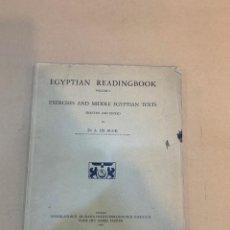 Livros em segunda mão: A. DE BUCK / EGYPTIAN READINGBOOK VOLUMEN I (UNICO PUBLICADO) / 1948 / EGIPTOLOGIA / JEROGLIFICOS. Lote 227209775