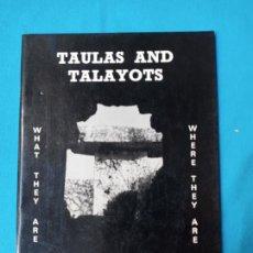 Libros de segunda mano: TAULAS AND TALAYOTS - MICHAEL HOSKIN - WILLIAM WALDREN. Lote 227848990