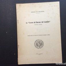 """Libros de segunda mano: LA """" COVETA DEL BARRANC DEL CASTELLET """" S.I.P. MCMLIV. Lote 240957095"""