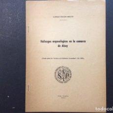 Libros de segunda mano: HALLAZGOS ARQUEOLÓGICOS EN LA COMARCA DE ALCOY. SIP MCMLII. Lote 240957270