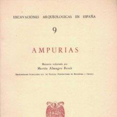 Libros de segunda mano: MARTIN ALMAGRO BASCH. AMPURIAS.. Lote 241633880
