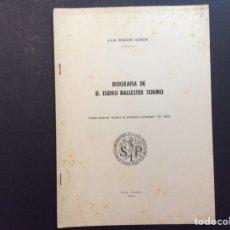 Libros de segunda mano: BIOGRAFÍA DE D. ISIDRO BALLESTER TORMO. Lote 243100875
