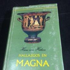 Libros de segunda mano: HALLAZGOS EN MAGNA GRECIA. HANS VON HULSEN. ED. TAURUS.1966. MOMENTOS ESTELARES DE LA ARQUEOLOGIA. Lote 251340240