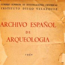 Libros de segunda mano: ARCHIVO ESPAÑOL DE ARQUEOLOGÍA. NÚMERO 79. MADRID. ABRIL-JUNIO 1950. Lote 252545900