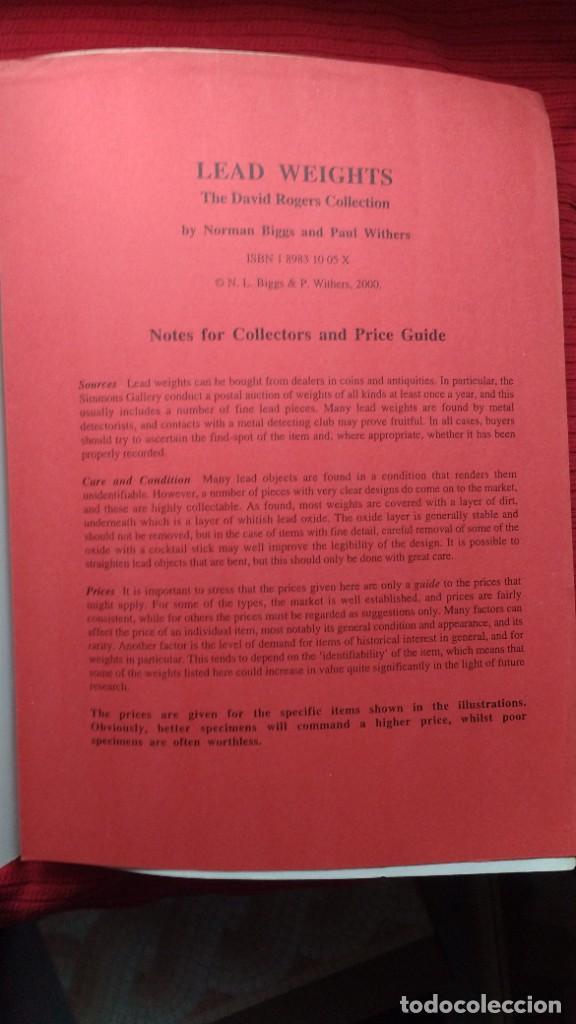 """Libros de segunda mano: LIBRO """"LEAD WEIGHTS. THE DAVID ROGERS COLLECTION"""", DE N. BIGGS Y P. WITHERS. SOBRE PESOS DE PLOMO - Foto 5 - 257687685"""