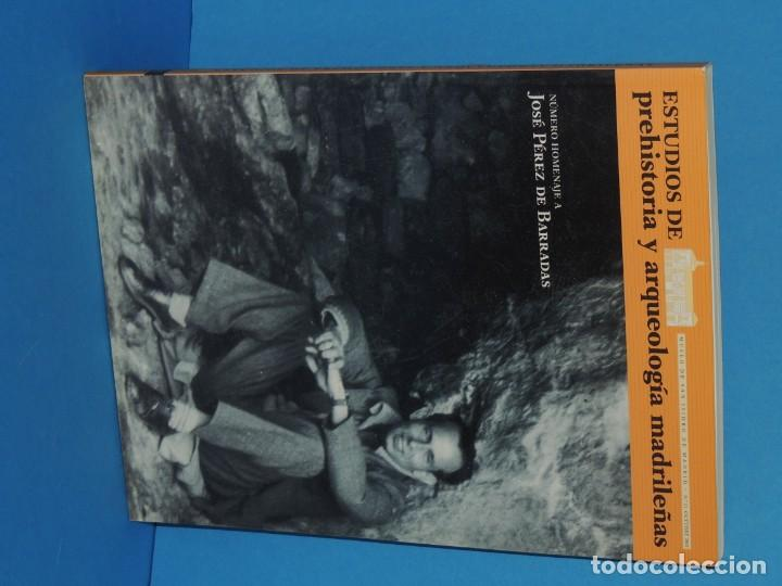 Libros de segunda mano: ESTUDIOS DE PREHISTORIA Y ARQUEOLOGÍA MADRILEÑAS. NÚMERO HOMENAJE A J. PÉREZ DE BARRADAS - Foto 2 - 260327055