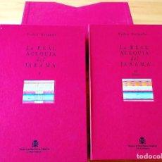 Libros de segunda mano: DELGADO: LA REAL ACEQUIA DEL JARAMA - UN TOMO MÁS CAJA CON 32 PLANOS. Lote 263785685