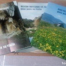 Libros de segunda mano: GUIAS DE ÁLAVA: CUEVAS ARTIFICIALES, DÓLMENES, RESTOS ROMANOS. 3 GUÍAS. Lote 264089920