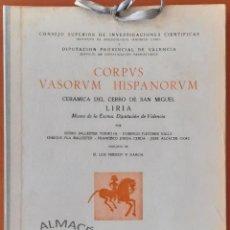 Libros de segunda mano: CORPUS VASORUM HISPANORUM (CERÁMICA DEL CERRO DE SAN MIGUEL - LIRIA) 1954. SIN USAR. Lote 269980748