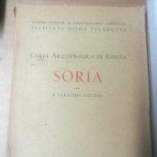 Libri di seconda mano: BLAS TARACENA AGUIRRE, CARTA ARQUEOLÓGICA DE ESPAÑA: SORIA, MADRID, 1941. Lote 275610068
