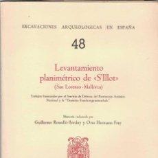 Libros de segunda mano: G. ROSELLÓ-BORDOY Y O. HERMANN FREY. LEVANTAMIENTO PLANIMÉTRICO DE S'ILLOT. SAN LORENZO MALLORCA.. Lote 276801898