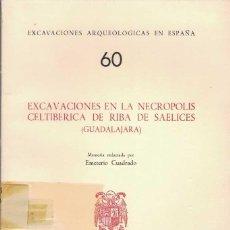 Libros de segunda mano: EMETERIO CUADRADO. EXCAVACIONES EN LA NECRÓPOLIS CELTIBÉRICA DE RIBA DE SAELICES. GUADALAJARA. Lote 277556828