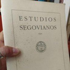 Libros de segunda mano: ESTUDIOS SEGOVIANOS. 1994. N. HOMENAJE. D. JUAN DE CONTRERAS Y LÓPEZ DE AYALA.. Lote 284725733