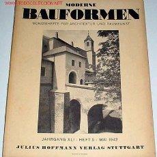 Libros de segunda mano: ANTIGUA REVISTA ALEMANA DE LA BAUHAUS MODERNE BAUFORMEN MAYO 1942 DISEÑO Y ARQUITECTURA. Lote 13661530