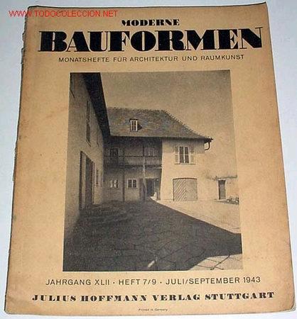 Antigua revista alemana de la bauhaus moderne b comprar for Revistas de arquitectura online