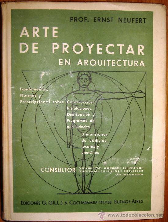 Arte de proyectar en arquitectura pro ernst ne comprar for Libro de dimensiones arquitectura