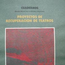 Libros de segunda mano: PROYECTOS RECUPERACION DE TEATROS.ARQUITECTURA.SEGOVIA.ZAMORA.DAIMIEL..LOGROÑO..CIUDAD REAL. Lote 17442061
