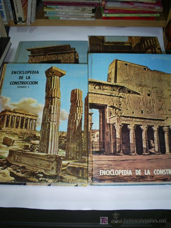 ENCICLOPEDIA DE LA CONSTRUCCION 4 TOMOS JOAQUÍN DEL SOTO ARQUITECTURA EN LA HISTORIA 1960 RM44929 (Libros de Segunda Mano - Bellas artes, ocio y coleccionismo - Arquitectura)